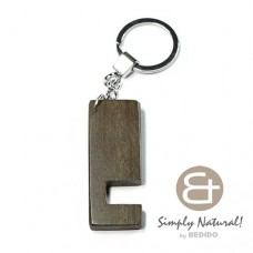 Graywood Gray 64 mm x 24 mm x 5 mm Hardwood Chrome Keychain IPHONE ANDROID ACCESSORY BFJ084KC