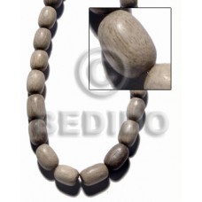Graywood Oval 10 mm Gray Wood Beads - Teardrop and Oval Wood Beads BFJ398WB