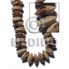 Graywood Saucer 5 mm Gray Beads Strands Wood Beads - Saucer and Diamond Wood Beads BFJ420WB