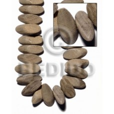 Graywood Slide Cut 8 mm Gray Beads Strands Wood Beads - Slide Cut BFJ416WB