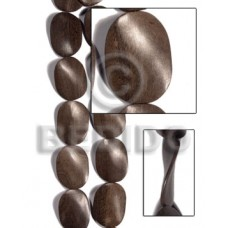 Graywood Twist 30 mm Gray Beads Strands Wood Beads - Twisted Wood Beads BFJ455WB