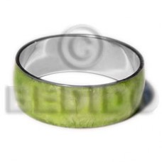 Green Capiz Shell Laminated Stainless Metal 1 inch 65 mm Bangles - Shell Bangles BFJ115BL