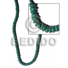 Green Coconut Pokalet 4-5 mm Coco Dyed colored beads BFJ027PT