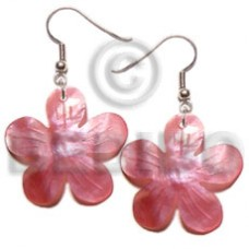 Hammer Shell Flower 35 mm Pink Shell Earrings BFJ5077ER