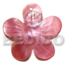 Hammer Shell Flower Pink 40 mm Pendants - Shell Pendants BFJ5383P