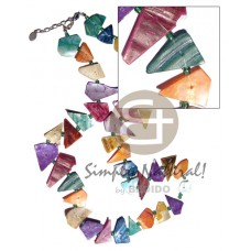 Hammer Shell Multi-Color 40 mm Shell Necklace BFJ3414NK