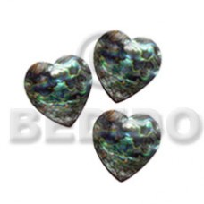 Heart Natural 15 mm Paua Abalone Pendants - Shell Pendants BFJ5091P