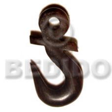 Horn Anchor Black 40 mm Pendants - Bone Horn Pendants BFJ5185P