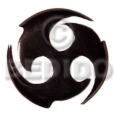 Horn Black Celtic Design 40 mm Pendants - Bone Horn Pendants BFJ5177P