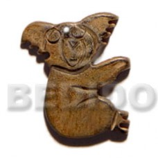 Horn Natural 40 mm Koala Bear Pendants - Bone Horn Pendants BFJ5609P