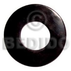Horn Round Black 65 mm Pendants - Bone Horn Pendants BFJ5100P