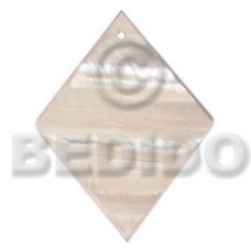 Kabibe Shell 40 mm Diamond White Pendants - Simple Cuts BFJ6220P