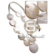 Kabibe Shell 50 mm Satin Cord 40 inches Shell Necklace BFJ2444NK