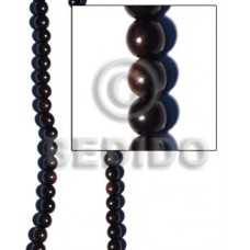 Kamagong Wood Black 8 mm Beads Strands Ebony Tiger Round Wood Beads - Round Wood Beads BFJ058WB