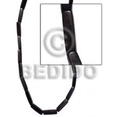 Kamagong Wood Hardwood 4 sided flat 25 mm Black Wood Beads - Flat Square Wood Beads BFJ181WB