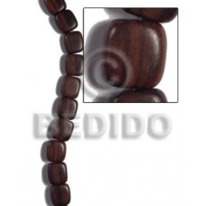 Kamagong Wood Hardwood Ebony Tiger Pillow 10 mm Wood Beads - Flat Square Wood Beads BFJ474WB