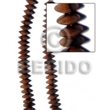 Kamagong Wood Saucer 15 mm Ebony Tiger Beads Strands Hardwood Wood Beads - Saucer and Diamond Wood B