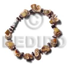 Luhuanus Green Everlasting Coconut Pokalet 4-5 mm Black Sea Shell Bracelets BFJ5178BR