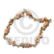 Luhuanus Head Popcorn Shell Natural Sea Shell Bracelets BFJ829BR
