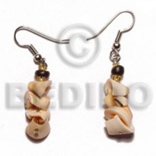 Luhuanus Red Everlasting Dangling Natural Shell Earrings BFJ5105ER