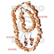 Luhuanus Red Everlasting Natural Set Jewelry 18 in necklace 7.5 Bracelets Earrings Set Jewelry BFJ02