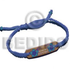 Macrame Coconut Painted Flower Coconut Bracelets BFJ5246BR