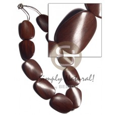 Magkuno Iron Wood Twist Natural 20 inches Wooden Necklaces BFJ3171NK