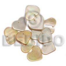 MOP 10 mm Heart Yellow Pendants - Shell Pendants BFJ5054P