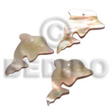 MOP Mother of Pearl Dolphin 20 mm Pendants - Shell Pendants BFJ5058P