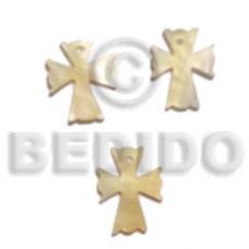 Mother of Pearl 20 mm Cross Natural Pendants - Shell Pendants BFJ5056P