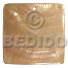 Mother of Pearl 40 mm Square Yellow MOP Pendants - Simple Cuts BFJ6249P
