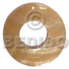 Mother of Pearl 40 mm Yellow Ring MOP Pendants - Simple Cuts BFJ6207P
