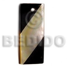 Mother of Pearl 50 mm Resin Inlaid Yellow Pendants - Shell Pendants BFJ5095P
