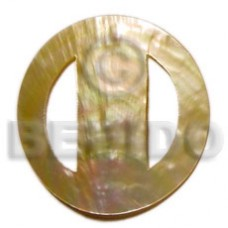 Mother of Pearl MOP Round 70 mm Sarong Buckles BFJ003BK
