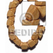 Nangka Wood Barrel Double Sided 11 mm Yellow Natural Beads Strands 16 inches Wood Beads - Nuggets Wo