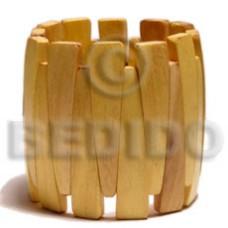 Nangka Wood Elastic Coated Bangles - Wooden Bangles BFJ036BL