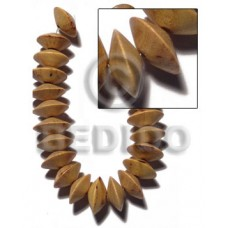 Nangka Wood Saucer 8 mm Yellow Beads Strands Wood Beads - Saucer and Diamond Wood Beads BFJ421WB