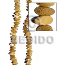 Nangka Wood Slide Cut 8 mm Yellow Beads Strands Wood Beads - Slide Cut BFJ205WB