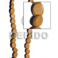 Nangka Wood Slide Cut 8 mm Yellow Beads Strands Wood Beads - Slide Cut BFJ228WB