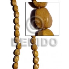 Nangka Wood Twist 10 mm Yellow Beads Strands Wood Beads - Twisted Wood Beads BFJ182WB