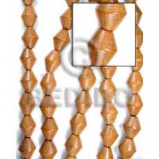 Natural 16 inches Bayong Wood Football 8 x 8 mm Natural Wood Beads - Football and Cylinder Wood Bead