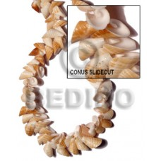 Natural 16 inches Conus Shell Slide Cut Shell Crazy Cut Shell Beads BFJ071SPS