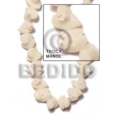 Natural 16 inches Trocha Shell Manol Shell Special Cuts Shell Beads BFJ011SPS
