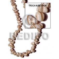 Natural 16 inches Trocha Shell topdrill Beads Strands Nude Shell Crazy Cut Shell Beads BFJ084SPS
