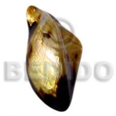 Natural Brown Lip Shell Natural Natural Pendants - Shell Pendants BFJ5032P