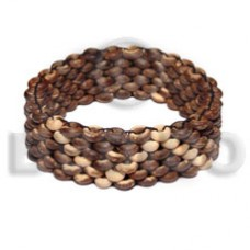 Natural Macrame Bone Mahogany Leather adjustable Wood Bracelets BFJ5297BR