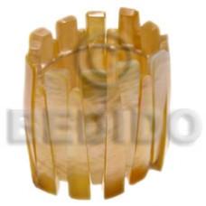 Natural Mother-Of-Pearl Resin Backing Elastic 58 mm Bangles - Shell Bangles BFJ012BL