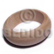 Natural Plain 70 mm inner diameter Solid Ambabawd Wood Natural Bangles - Plain BFJ639BL