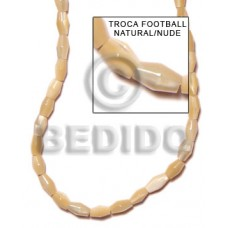 Natural Trocha Shell 16 inches Football Shell Special Cuts Shell Beads BFJ052SPS