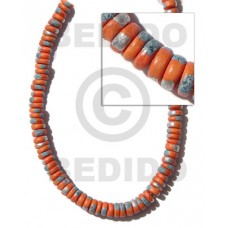 Orange 16 inches Coconut 4-5 mm Pokalet Painted Coco Splashing Beads BFJ014SPL